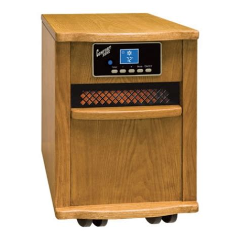comfort zone infrared heaters comfort zone cz20110 infrared heater 1500w antique oak at