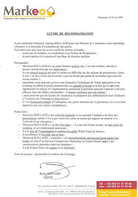 Lettre De Recommandation Webmarketing Antoine Rolland Mes Recommandations