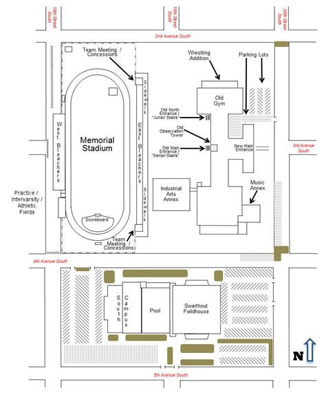 Stadium Floor Plans File Great Falls High Campus Map Great Falls