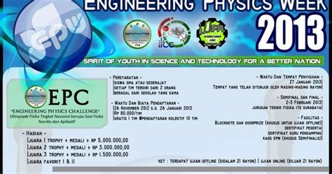 Kaos Sains Fisika engineering physics week 2013 teknik fisika its