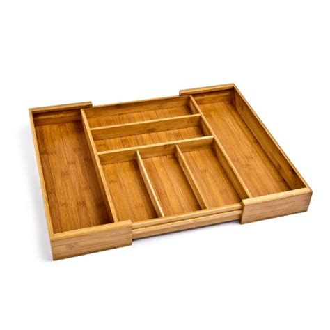 adjustable bamboo drawer organizer awardpedia seville classics expandable bamboo cutlery