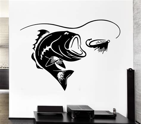 wall stickers fish aliexpress buy fishing sticker fish decal muurstickers posters vinyl wall decals pegatina