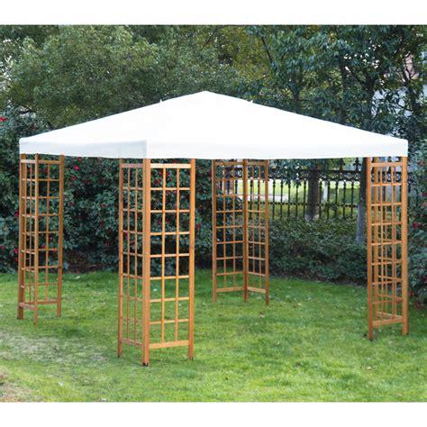 10x10 Wood Gazebo Outsunny Wooden Frame 10 X 10 Gazebo Tent Canopy