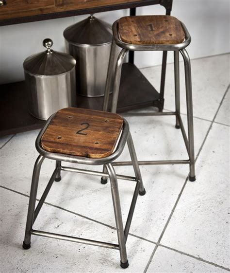 industrial wooden kitchen stools numbered school stool 4 industrial wood and metal bar