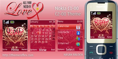 nokia c2 beautiful themes nokia c1 01 themes free download from themereflex com