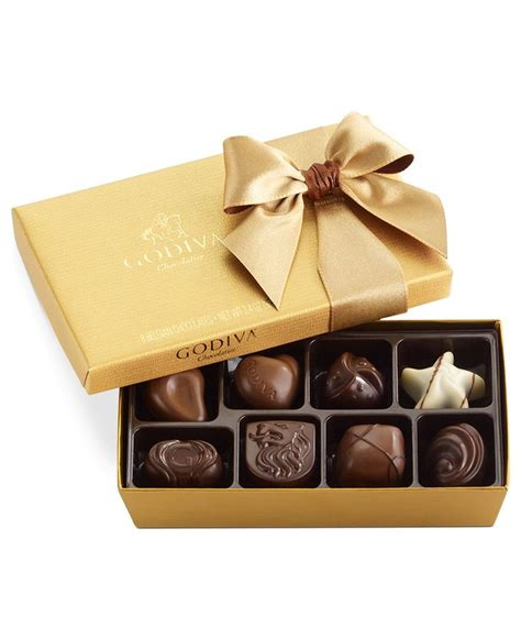godiva chocolate godiva chocolatier 8 pc gold bow ballotin box of chocolates