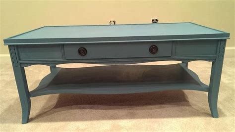 paint for coffee table vintage blue chalk painted coffee table house