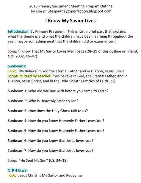 lds sacrament meeting program template 2015 primary sacrament meeting program ideas free