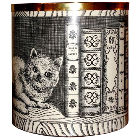 libro the white cat and fornasetti cat and mouse 1950 s baket planter vase hermosa