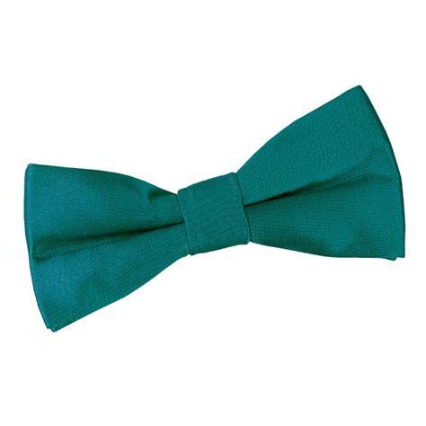 boy s plain teal satin bow tie