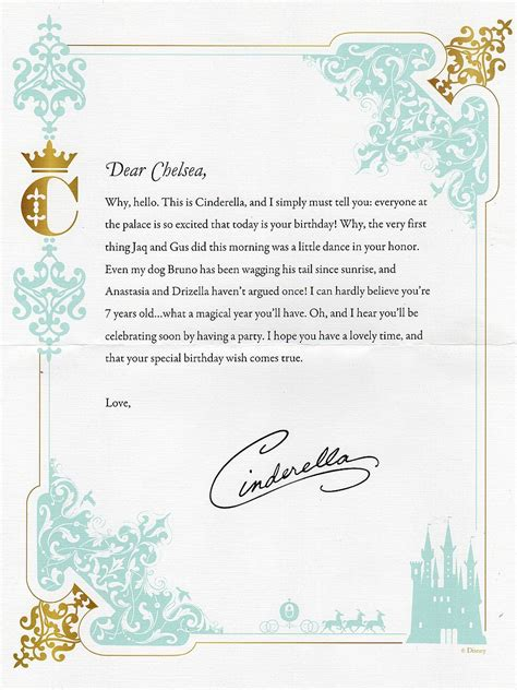 princess letter template letters from cinderella archives beyond the berm