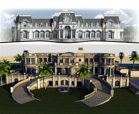 modern mansion floor plan