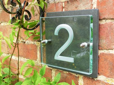 glass door numbers plaques house number plaques house name plaques
