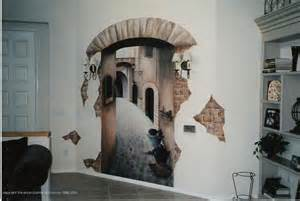 hand painted wall murals on art center gallery 3d mural wall art optical illusion visualfunhouse