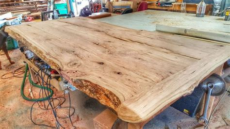 making  cherry wood table   log youtube