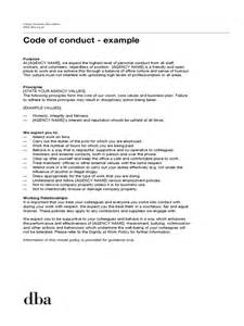 Template Code by Code Of Conduct Exle 5 Free Templates In Pdf Word