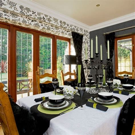 wallpaper for dining rooms monochrome wallpaper dining room wallpaper ideas