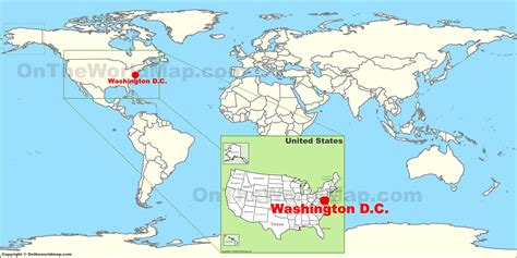 on the map washington d c on the world map