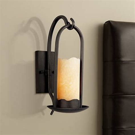 hanging candle sconces hanging onyx faux candle wall sconce 51685 ls plus