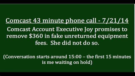 comcast account executive joy fails to remove my fake