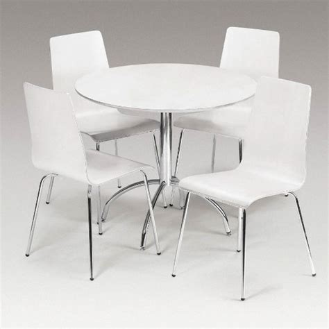 White Dining Table With Chairs Dining Set In White With 4 Chairs 5470