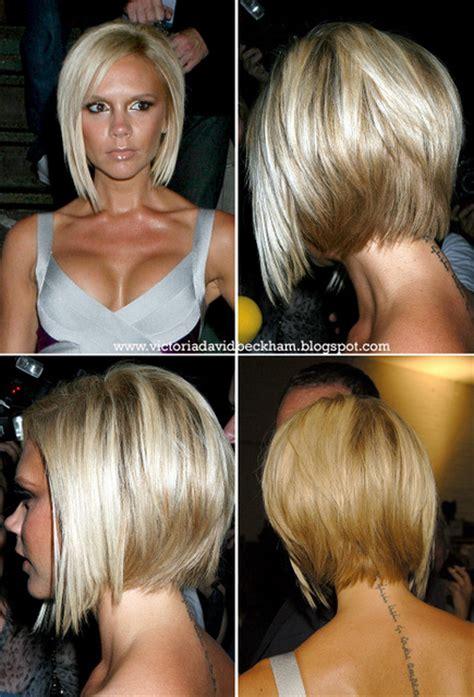 victoria beckham short hairstyles back and front vidal sassoon bob haircuts newhairstylesformen2014 com