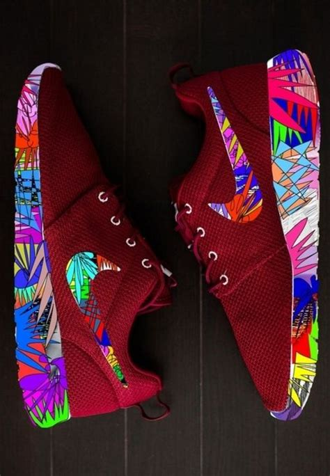 Kaos Anime Air One Nike Maroon nike roshe run superbright customs shoes running shoes cheap nike and roshe