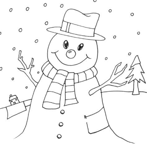 snowman scene coloring page ภาพระบายส ต กตาห มะ snowman i little english with