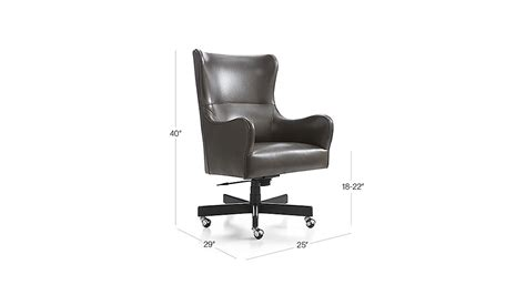 liv leather wingback desk chair crate and barrel