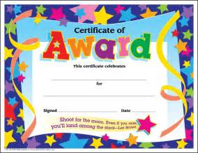 30 certificates of award large star certificate award pack by trend