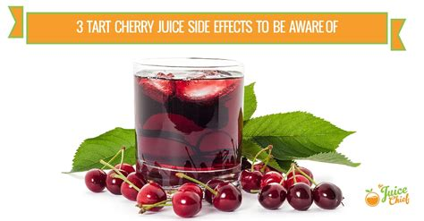 Does Tart Cherry Detox by 3 Tart Cherry Juice Side Effects