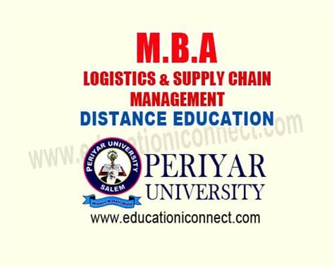 Mba Supply Chain Management Distance Education In Chennai by Mba Logistics Supply Chain Management Education I Connect