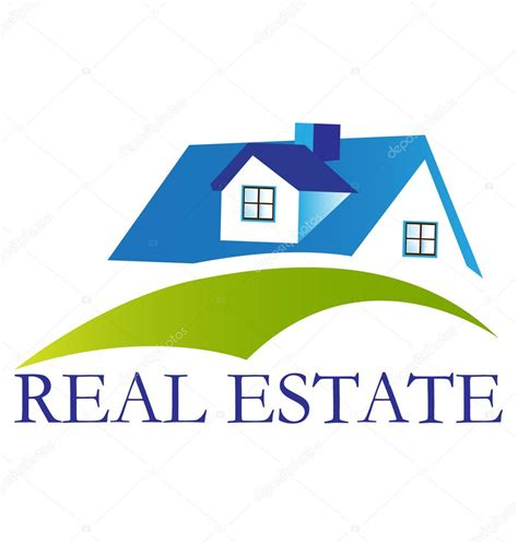 real estate house pictures real estate blue house logo stock vector 169 glopphy 18311509