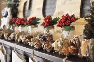 How to design rustic woodland christmas mantel christmas decorations