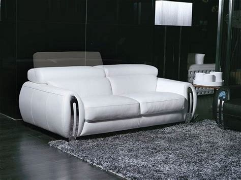 sofas fara 3 seater white leather lounge sofa world
