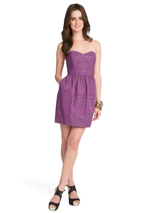 Dress Pueple Siara sweetheart denim bustier dress trendy clothes