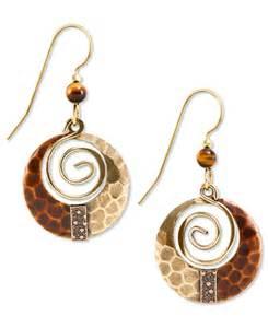 silver forest earrings silver forest earrings gold tone hammered loop drop earrings jewelry watches macy s