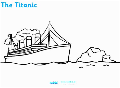 Free Titanic Sinking Coloring Pages Titanic Coloring Pages
