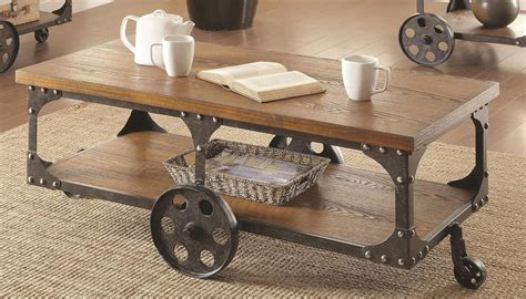 coaster industrial sofa table industrial coffee table coffee and cocktail tables