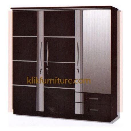 lp 3999 lemari 3 pintu minimalis kaca macro