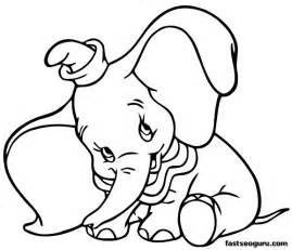 printable coloring pages dumbo disney characters