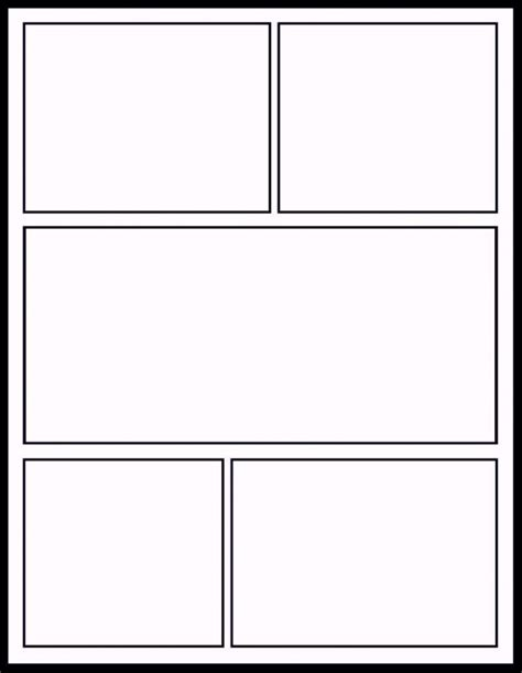 Printable Comic Strip Template Comic Book Template Layout Template