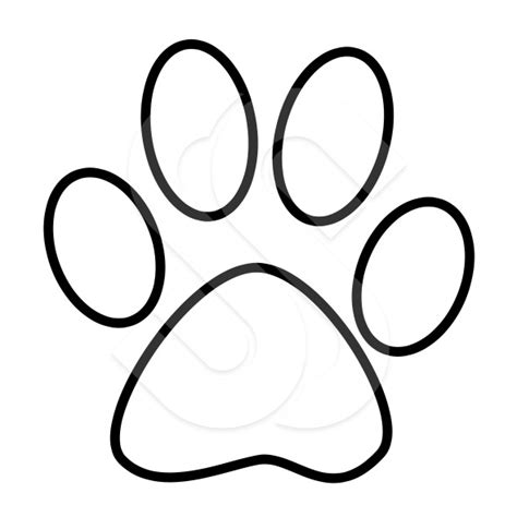 Picture Of Cat Paw Print Clipart Best Paw Template