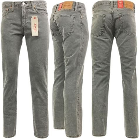 light gray jeans mens mens levi strauss 511 slim fit jean white thorn light