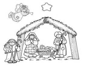 nativity coloring page a circus nativity coloring page