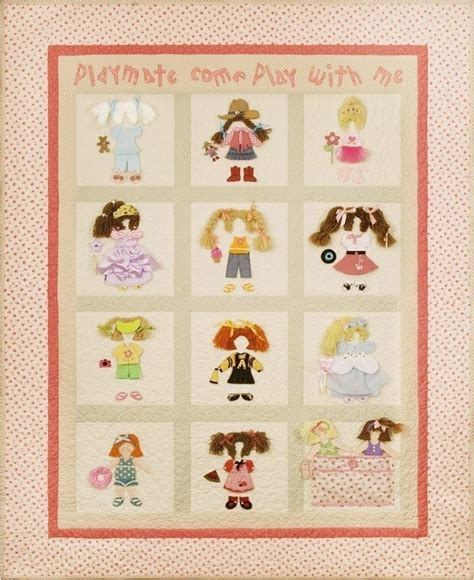 Doll Quilt Pattern by And Patterns Paper Doll Quilt Pattern Quot Playmate Quot