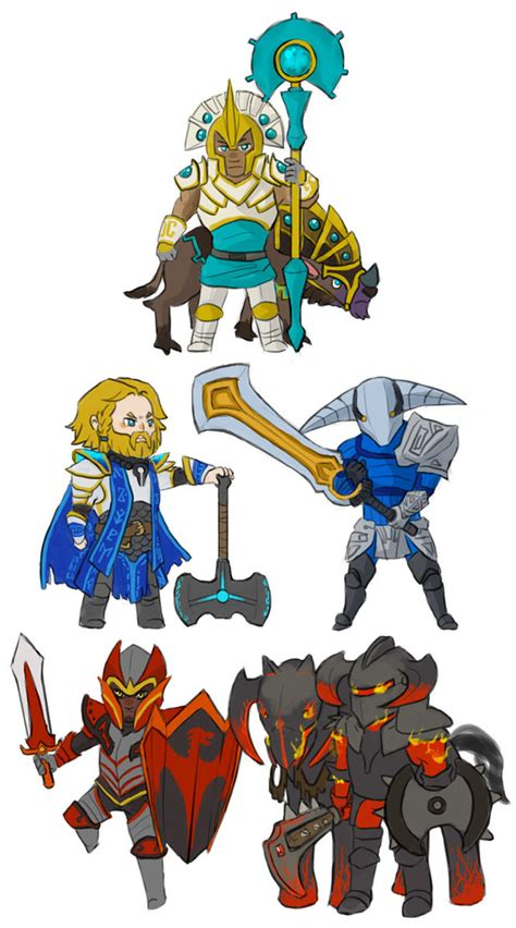 Chibi Dota 5 an attempt by my so to name dota 2 heroes by pictures dota2