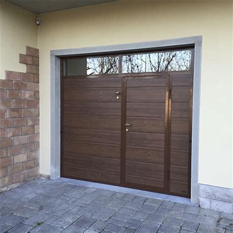 serrande sezionali per garage sunset porta basculante linea acciaio simil legno porte