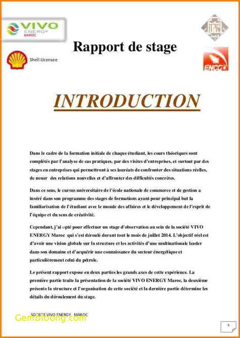 Modèle Introduction Rapport De Stage