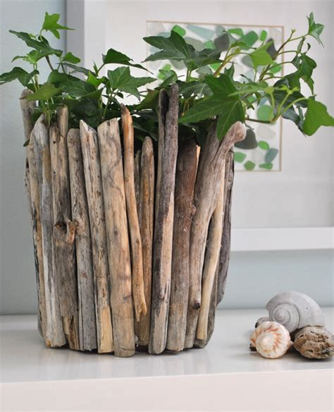 house decoration items easy driftwood pot tutorial